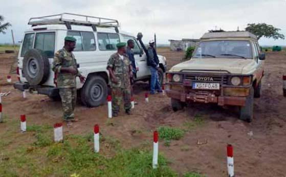 Schlafplatz am Militärposten an der Grenze Cabinda - DRC