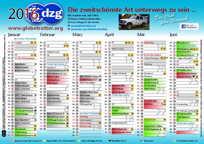 DZG Kalender 2016