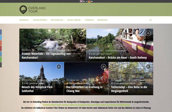 Backpacker Weltreiseblog OVERLANDTOUR von Weltreise bis Urlaub | Reiseberichte für Backpacker & Flashpacker, Reisetipps, Inspirationen für Weltreisende