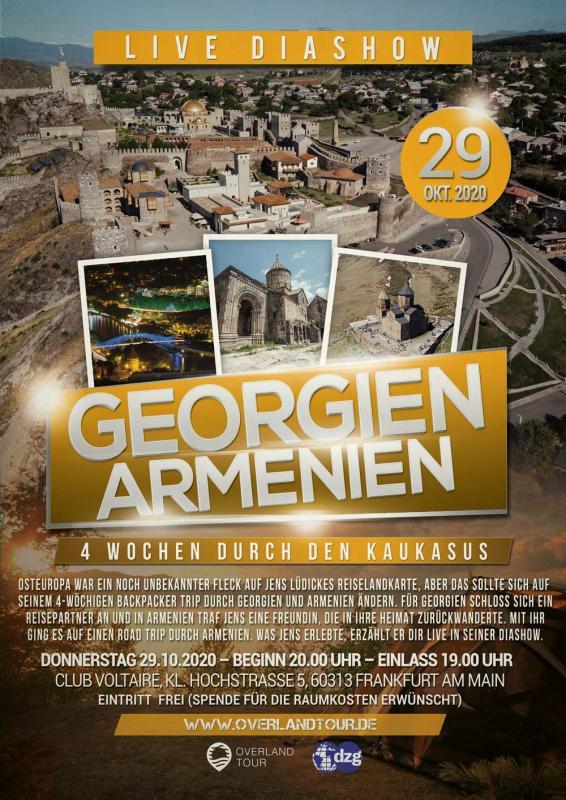 DZG Reisevortrag Georgien Armenien Backpacker Trip