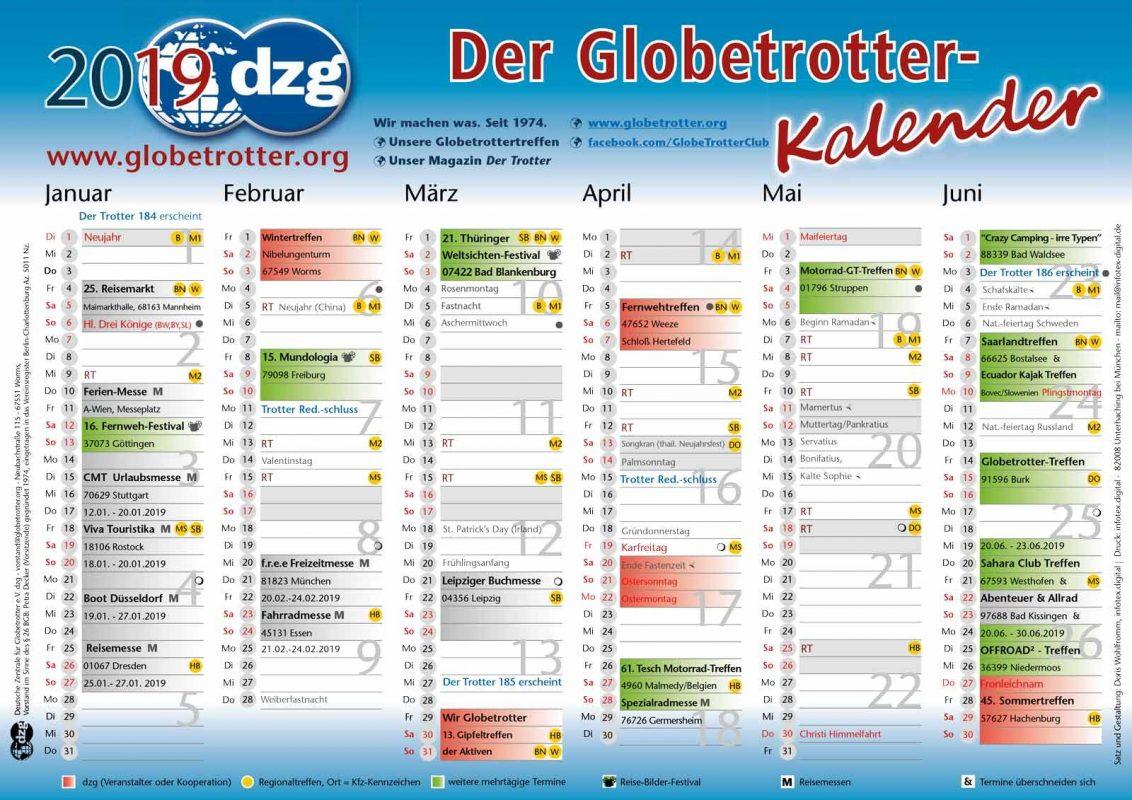 DZG Kalender 2017