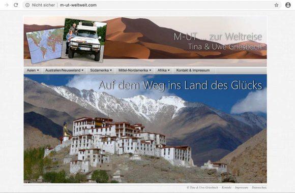 Webseite M-ut von Tina und Uwe